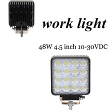 new arrival 10-30V DC fog lamp light Off Road Truck Trailer Interior and Exterior Lighting 2pcs 48W work light lamp  Flood beam