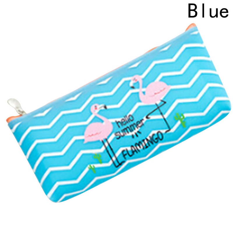 Girls Women Cute Bird Pink/Blue 2018 New Arrival Kawaii Pu Leather Make Up Bag Canvas Coin Key Cases Gift