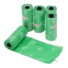 5 Rolls/75Pcs Printed Dog Garbage Poop Refill Bags Pick Up Trash bag Pet Supplie SZ