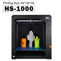 HUAFAST HS 1000 3D Printer Huge Printing Size 1000x1000x1000mm Full Metal Frame Touch Screen 0.4 or 0.8mm nozzle PLA filament