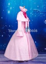 New Anime Fairy Tail Cosplay Dress Pink Mavis Vermilion Cosplay Dress Costume