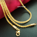 Elegant Jewelry 18K Yellow Gold Filled Necklace 45cm Length n269