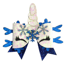 Adogirl 10 pcs Sequins Unicorn Party Hair Bows with Alligator Clip for Girls Lovely Cartoon Hairgrips Custom Multi Colors