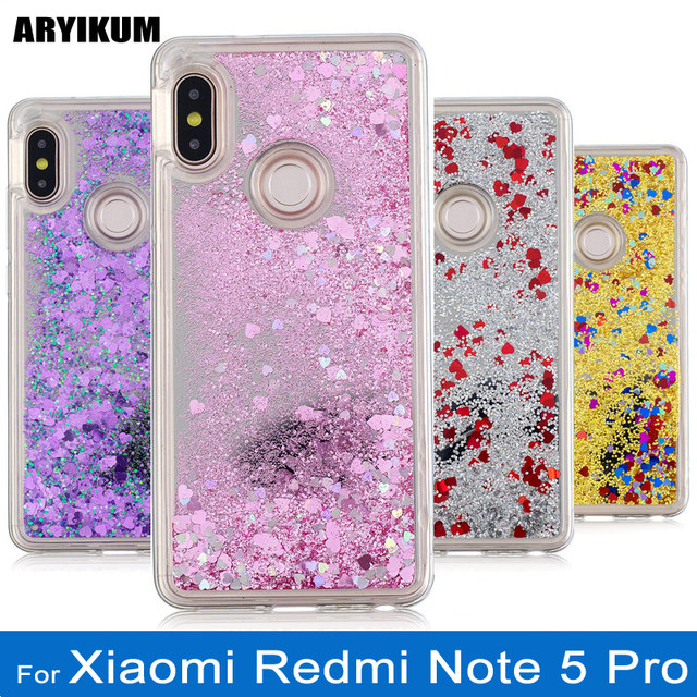 on sale a316b 43f03 US $4.15 15% OFF|For Xiaomi Redmi Note 5 Case Silicone Liquid Glitter Cover  For Xiaomi Redmi Note 5 Pro Phone Cases For Xiami Redmi Note 5 Case-in ...
