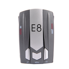E8 Full Band 360 degrees detect Scanning Voice Anti-Police LED English Russian Warning Radar Detector X K Ka Ct La 12V DC