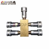 Factory Co2 Jet Machine Spare Parts 5 Way Gas Splitter Quick Connector More Machines Share One