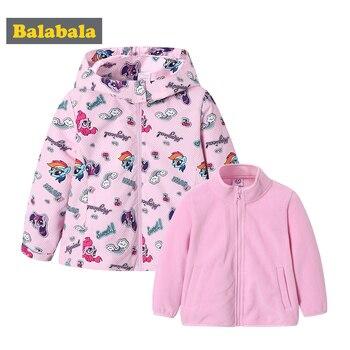 50-70% de descuento bajo costo forma elegante Balabala Grils 2 en 1 chaqueta al aire libre impresa con chaqueta de forro  polar desmontable para niños niño cortavientos para el otoño >> balabala ...