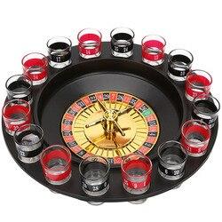 16 Выстрел Стекло Делюкс русский спиннинг рулетка покерные фишки питьевой Игровой Набор для вечеринок винные игры для взрослых Drinken игры