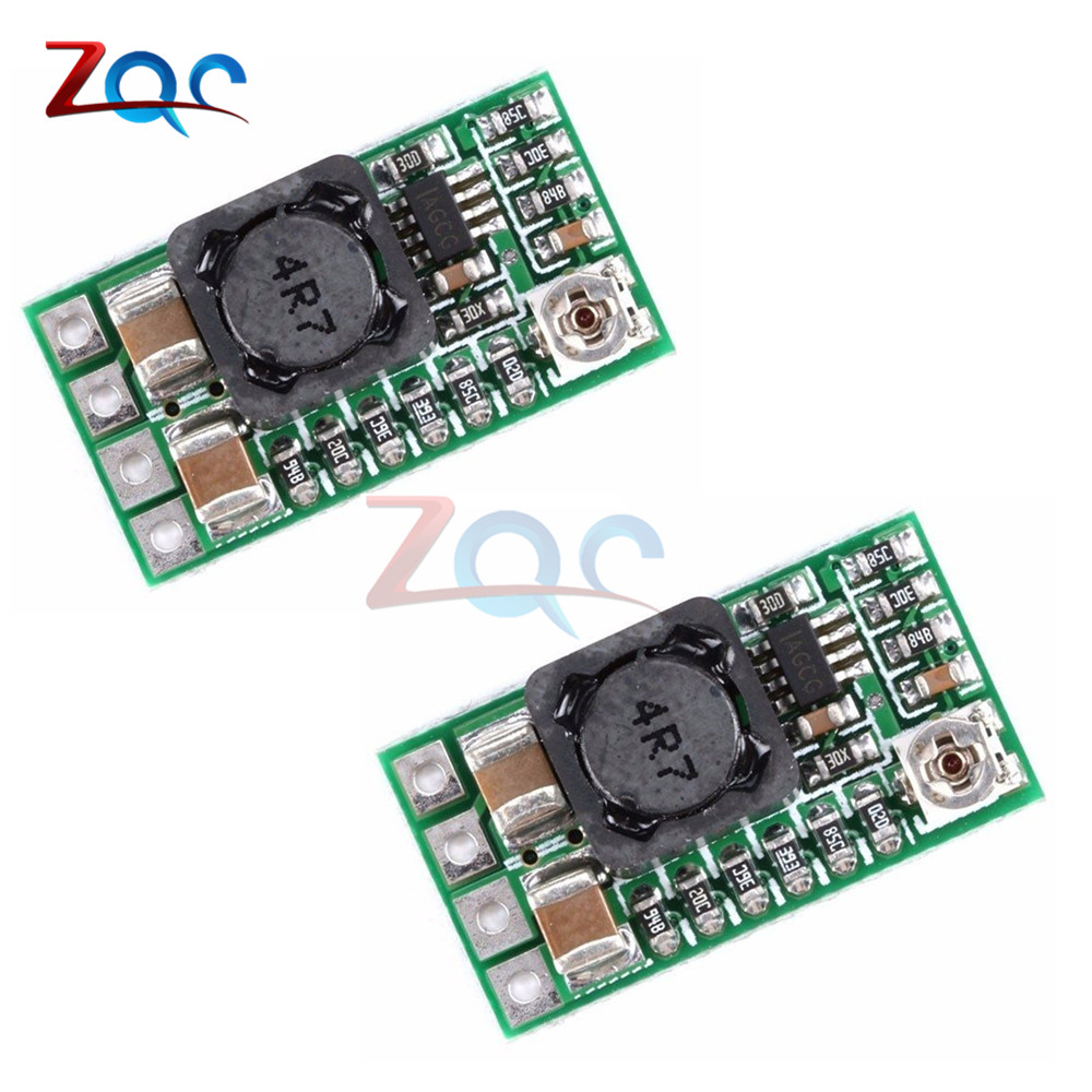 2Pcs Mini DC-DC 12-24V To 5V 3A Step Down Power Supply Module Voltage Buck Converter Adjustable 97.5% 1.8V 2.5V 3.3V 5V 9V 12V ac85 265v to dc3 3v 5v 9v 12v 24v switching power supply module ac dc led voltage regulator step down module