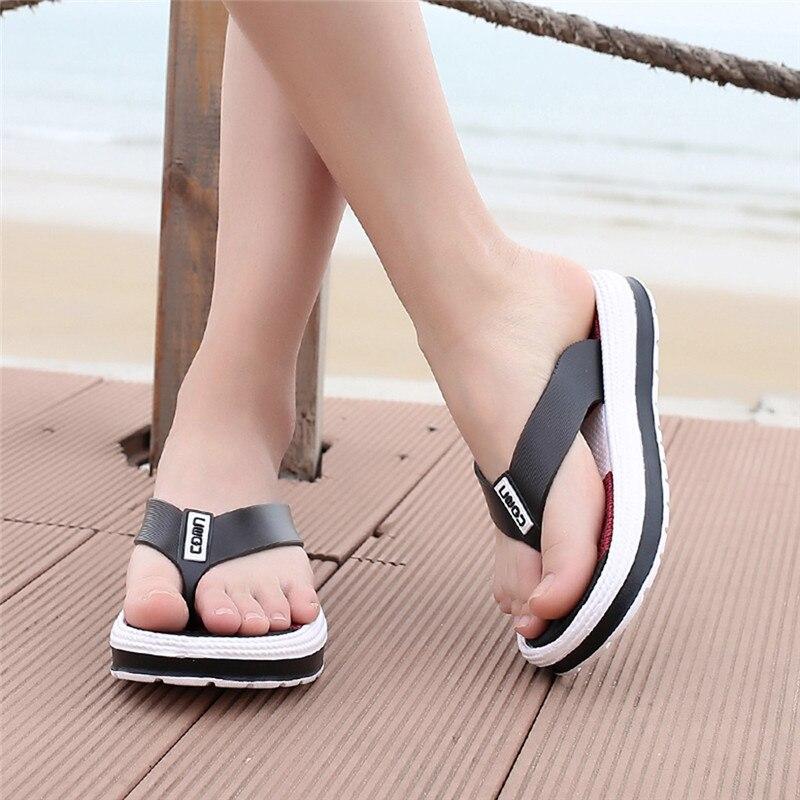 Summer Slippers Women Fashion Flip Flops Soft Bottom Beach -5204