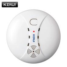 KEIRUI bezprzewodowa czujka dymu System alarmowy Alarm akcesoria wrażliwe dymu detektor ognia dla System alarmowy do domu tanie tanio 04 smoke detector KERUI Biały Alarm detektora dymu 9V DC ≤12mA Can work with KERUI alarm systerm