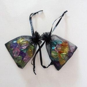 Image 5 - 1000 adet Siyah hediye keseleri Için takı çantaları Ve Ambalaj organze çanta İpli Çanta Düğün/Kadın Seyahat Depolama Ekran Torbalar