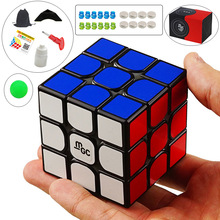 Yj MGC 3x3x3 Magnetic Neo Cube Magic Cube Black/Mix Color Puzzle Speed Cube for Brain Training Toys For Children Kids Adult цена