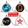 2016 Wholesale Steampunk Glass Dome Pendant For Jewelry Mass Effect Necklace N7 Pendant Jewelry Glass Cabochon Necklaces
