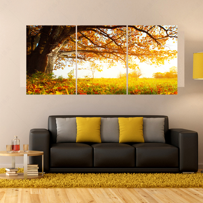 Canvas pictures modern 3 piece living room wall paintings for Piece of living room decor