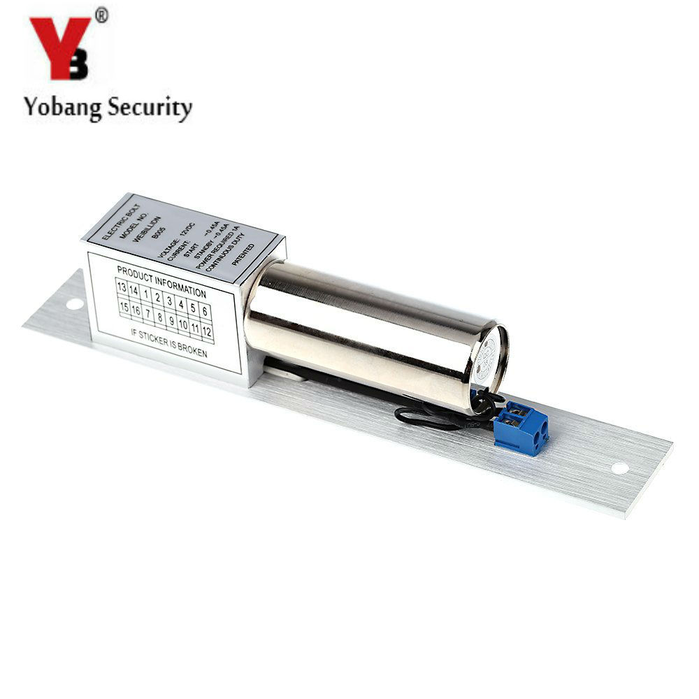 YobangSecurity Electric Drop Bolt Door Lock DC 12V Magnetic Induction Auto Deadbolt for Home Security Access Control System