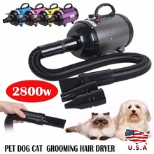 2800W Low Noise Hair Dryer For Dogs Pet Dog Cat Grooming Dryer Blower Variable Speed / Heat Pink Pruple Black Yellow Blue dog dryer professional portable double motor low noise pet blower dog grooming dryer 700 3200w 220v 110v stepless wind speed