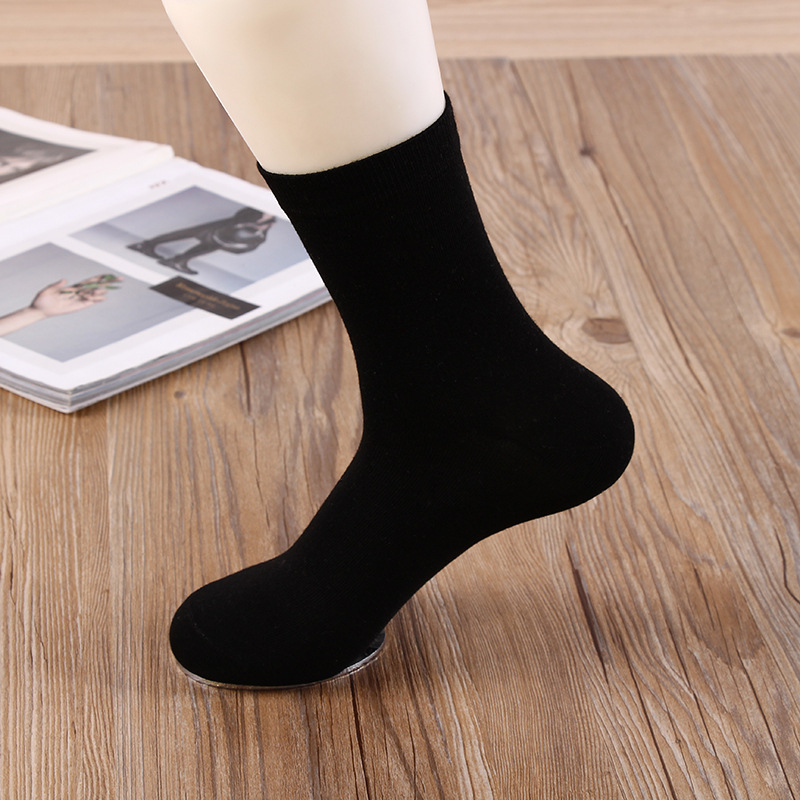 Spring Mens Dress Socks Soft and Deodorant Business Cotton Crew Socks Male Breathable Mens Meias and Sokkens 10 Pairs/Lot