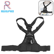 цена на Chest Strap mount belt for Gopro hero 8 7 6 5Xiaomi yi 4K Action camera Chest Mount Harness for GoPro SJCAM SJ4000 sport cam fix