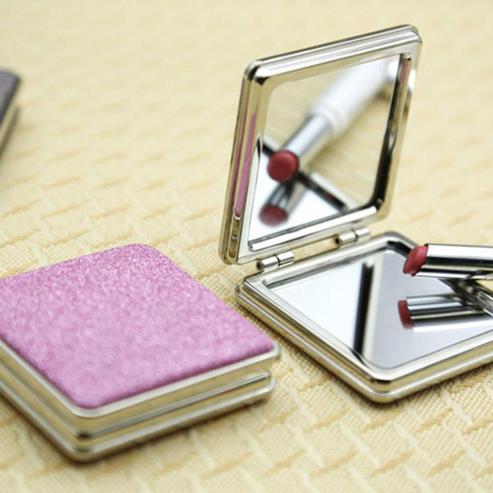 35 # Tragbare Mini Tasche Klapp Kosmetische Make-up Spiegel Platz Doppel-seitige Lupe Schönheit Werkzeug Klar Und GroßArtig In Der Art Spiegel Schminkspiegel