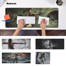 Babaite 2018 New tomb Raider Natural Rubber Gaming mousepad Desk Mat PC Computer