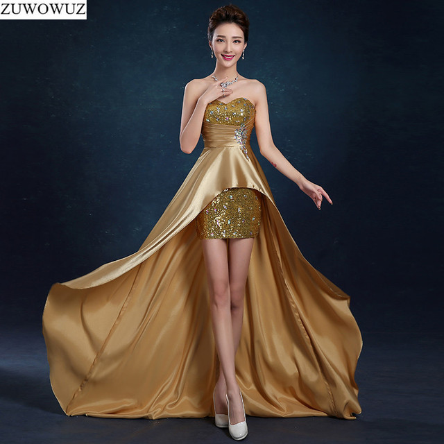 2017 new arrival stock maternity plus size bridal gown evening dress front  short back long black red gold blue gala party LF1620 36f420141111