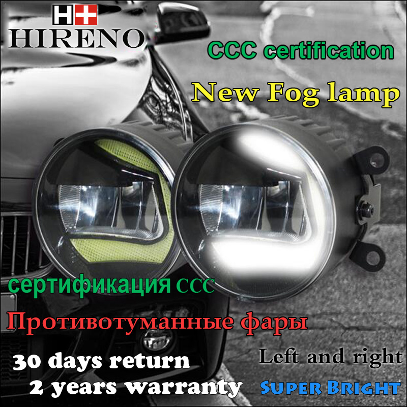 Hireno High Power Highlighted Car DRL lens Fog lamps LED daytime running light For Peugeot 4007 2007-2009 2010 2011 2012 2PCS car modification lamp fog lamps safety light h11 12v 55w suitable for mitsubishi triton l200 2009 2010 2011 2012 on