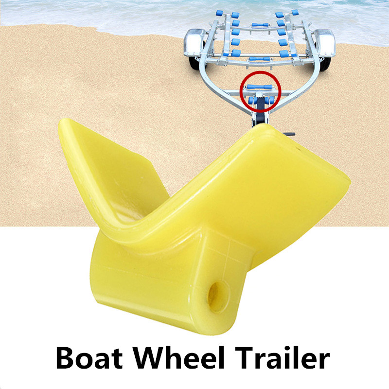 3 Inch Boat Wheel Trailer V Seat Yacht Accessories Yellow Base for Yacht Roller Boat Trailer Roller