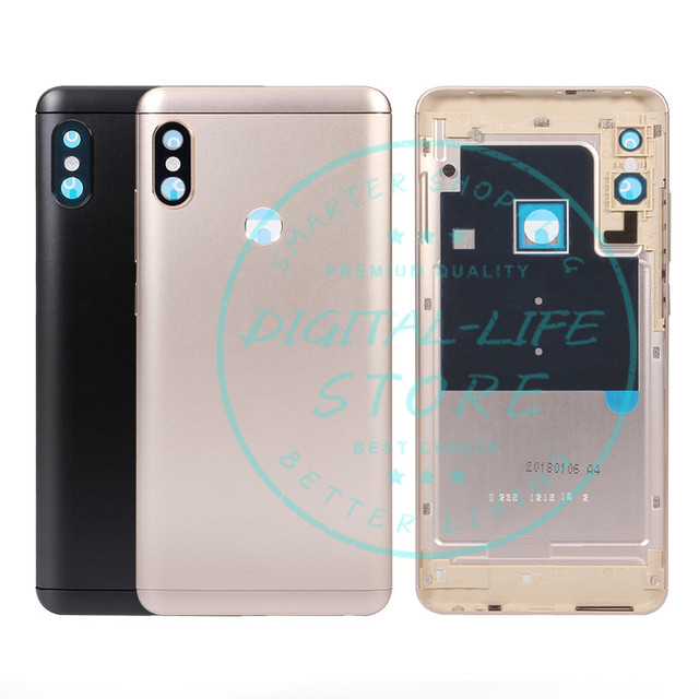 big sale 47542 97181 US $9.49 5% OFF|Xiaomi Redmi Note 5 Pro Rear Back Battery Door Housing  Metal Aluminum Cover + Camera Glass + Side Keys Repalcement Repair Parts-in  ...