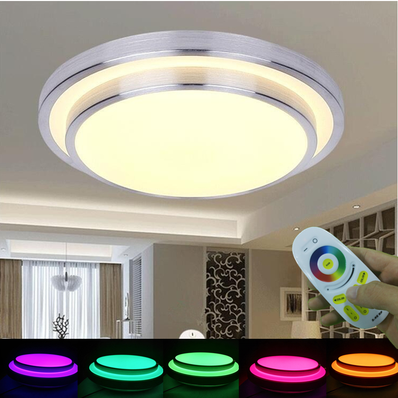 High Quality Mordern 2.4G Colorful Remote Control Ceiling Light RGB+Warm White+Cold  White Smart Lighting Fixture For Livingroom Bedroom Decor