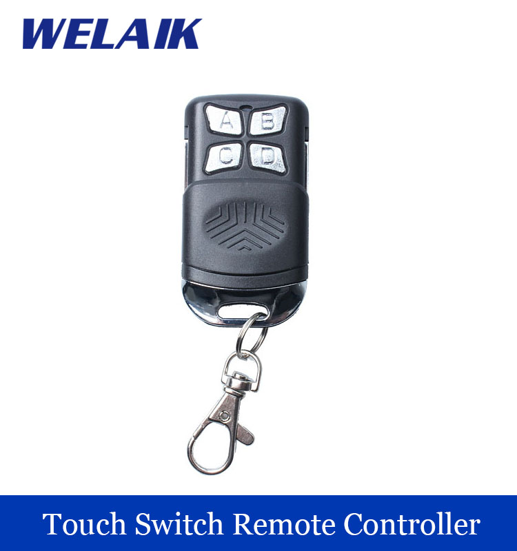 WELAIK Remote Control the Savior Of  Black Plastic Remote touch switch use R433MHZ R01 riggs r library of souls