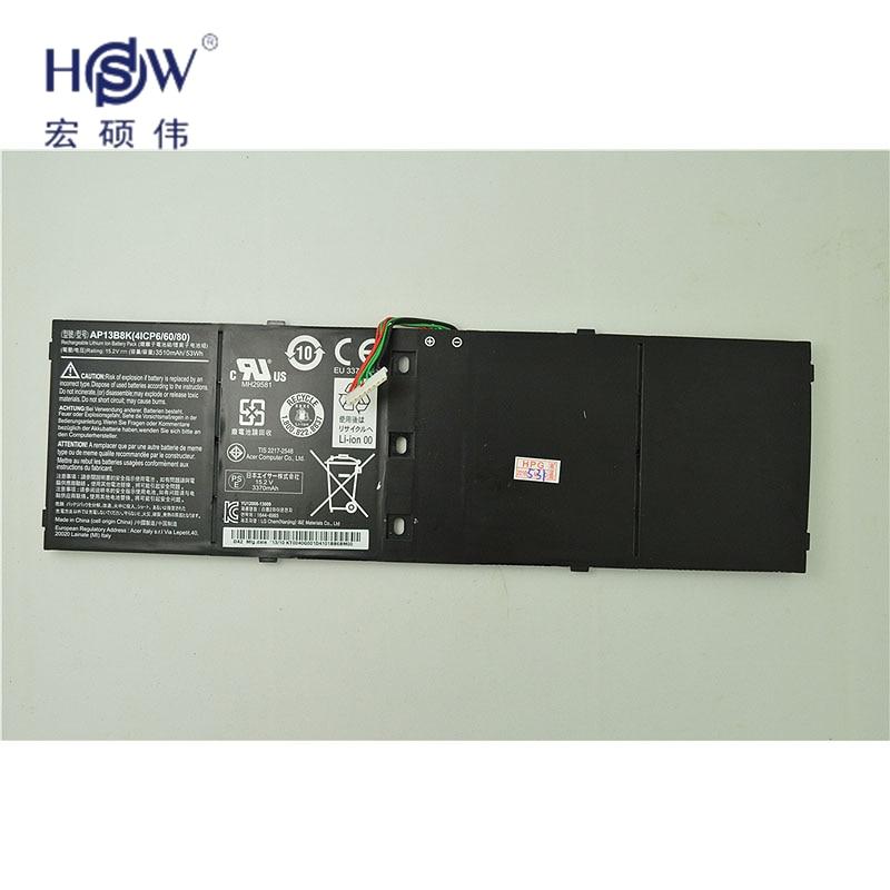 HSW 53wh 15.2V AP13B8K KT00403015 Battery for ACER For Aspire R7 V5 V7 ES1-511 M5-583P R7-571 V5-473G V5-573P V7-481 V7-481G 14 touch glass screen digitizer lcd panel display assembly panel for acer aspire v5 471 v5 471p v5 471pg v5 431p v5 431pg