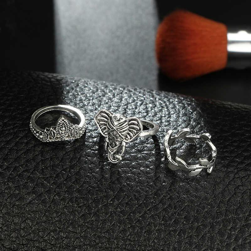 MYHFKK2019 dom venda quente liga ajustável única pena elegante das senhoras anel homens anel casal anel de prata retro JZ030