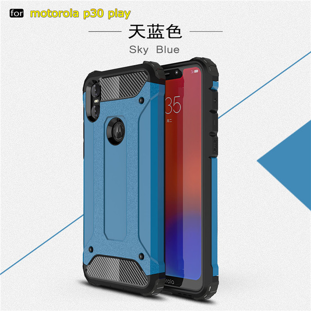 competitive price deb29 59613 US $2.62 18% OFF|For Motorola One Hybrid Durable Shield Armor Rugged  Shockproof Cover for Moto One Power P30 Note P30 play Double Protect  Case-in ...