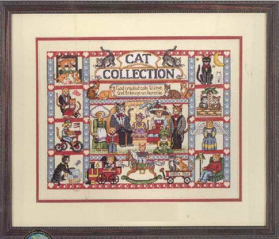 Fishxx Cross Stitch A1739cartoon big cat set water soluble printing 100 accurate pattern 11CT Need to