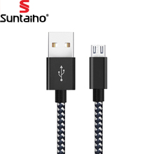 Micro USB Cable,Suntaiho 5V2.4A Nylon Braided Fast Charging Mobile Phone USB Charger Cable for Samsung/xiaomi/LG/Huawei/Meizu(China)