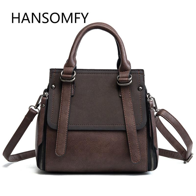 HANSOMFY| Shoulder Bag Flap Bag PU Leather Handbag Women Bag Large Capacity Tote Crossbody Bag flap pu crossbody bag