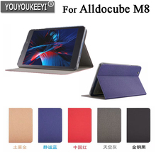 High quality Business Pu Leather Protective Case Stand Cover For Alldocube M8 8 inch Tablet+Stylus as gifts