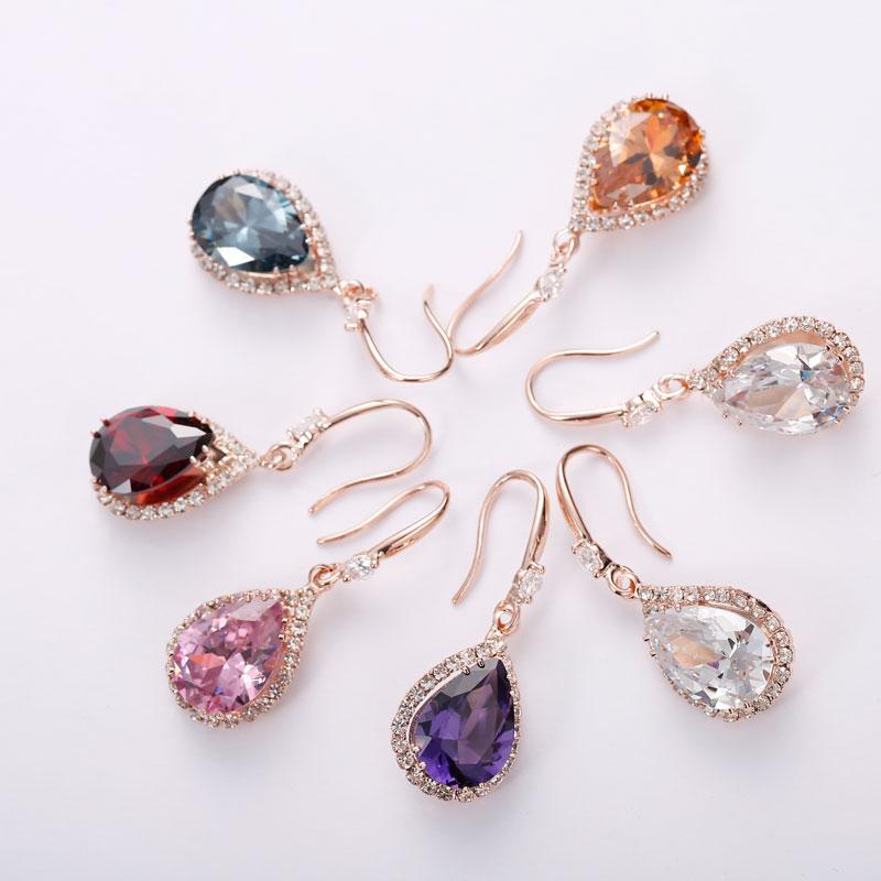 Manxiuni AAA Cubic Zirconia Drop örhängen med liten CZ Luxury - Märkessmycken - Foto 6