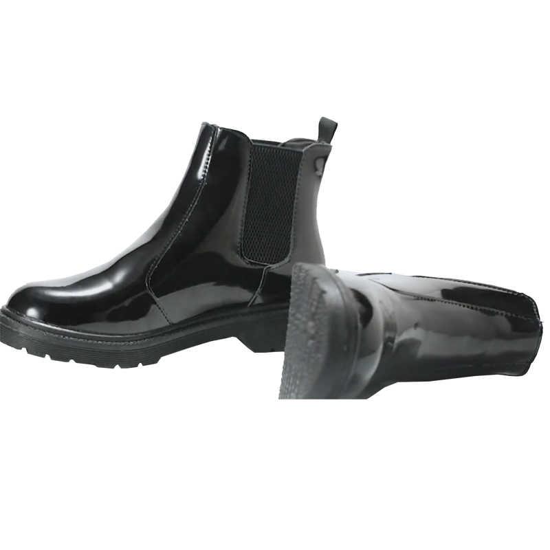 2018 Vintage Tarzı PU Deri Kadın Çizmeler Düz Patik kadın ayakkabısı Ön Zip yarım çizmeler zapatos mujer