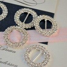 10pcs Lot 15mm Inner Bar Rhinestone Buckle Diamante Crystal Slider Silver Wedding Invitation Embellishment Cake Decoration
