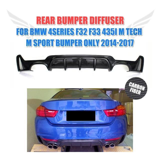 Carbon Fiber Auto Hintere stoßstange lip diffusor Spoiler für BMW 4 serie F32 F33 435i M Tech M Sport Stoßstange nur 2014-2017 p stil FRP
