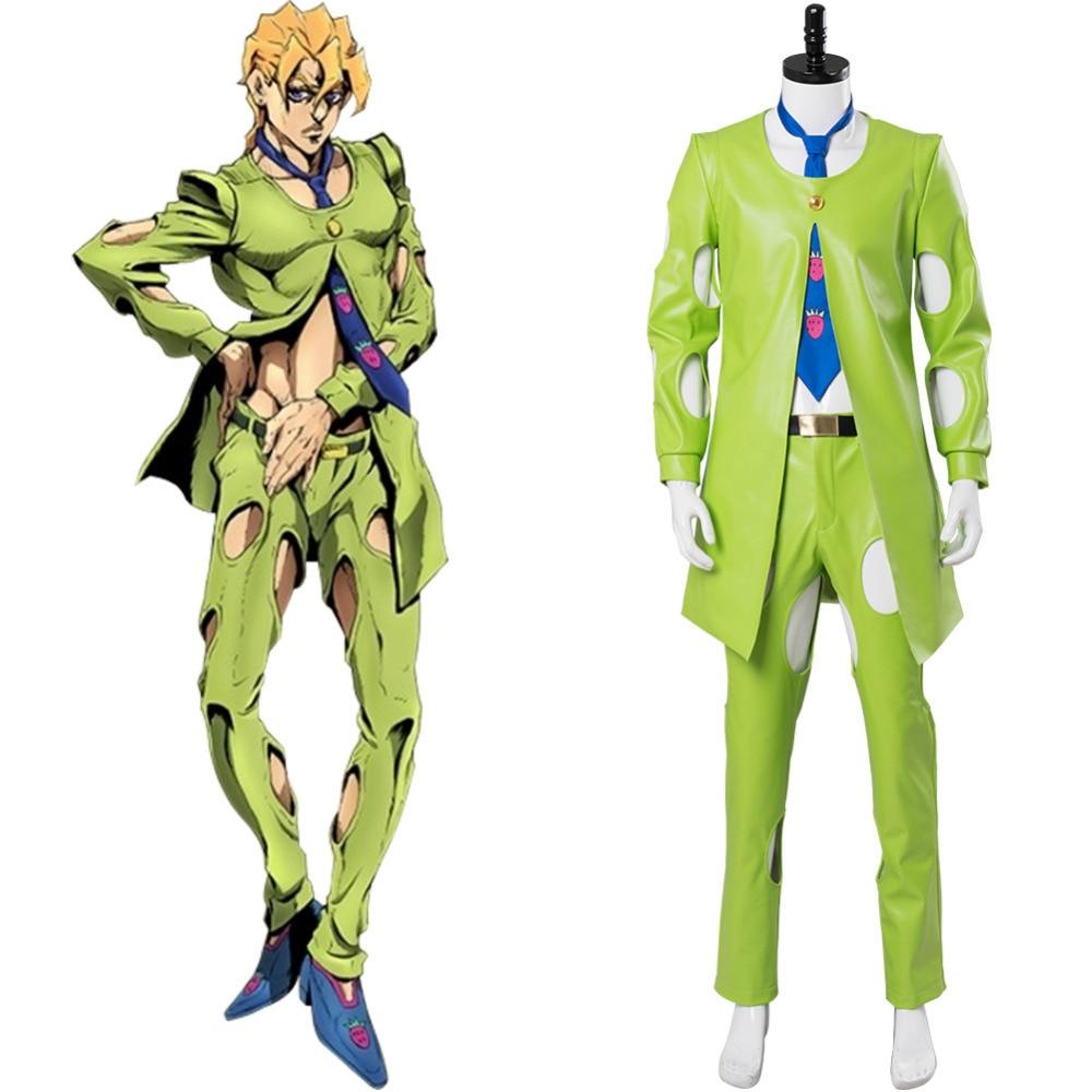 JoJo/'s Bizarre Adventure Golden Wind Ghiaccio Uniforms Cospaly Cotume @T17