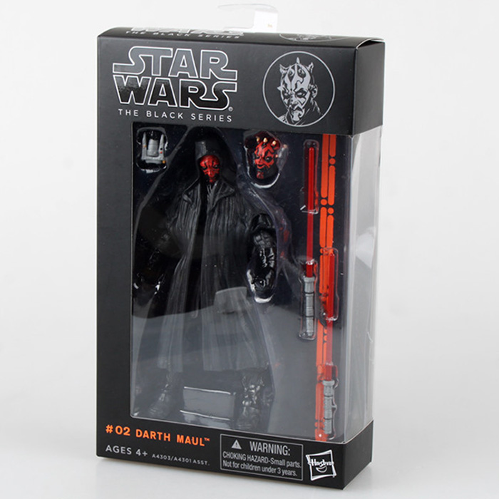 Star Wars The Black Series Darth Maul PVC Action Figure Collectible Model Toy 16cm star wars darth vader stormtrooper darth maul pvc action figure collectible model toy 15 17cm kt1717