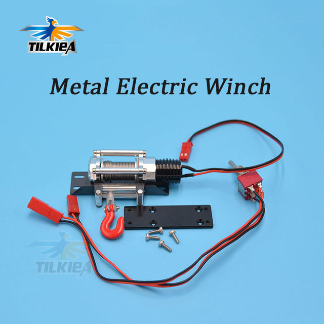 High Quality RC 4WD Metal Electric Winch For RC Truck 1/10 Scale D90 ...