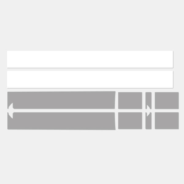 Автомобильный капот на крышу, задние полосы, наклейка на тело для Mini Cooper Coupe r56 r57 r58 r59 John Cooper Works JCW Roadster Cabrio - Название цвета: silvergrey and white