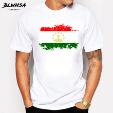 BLWHSA Tajikistan Summer T Shirt Diy Free Custom Made Name Number Men T-shirt Tajikistan National Flag Country Clothing