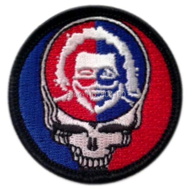 """2 """"Grateful Dead Stelen Uw Gezicht Jerry Garcia Music Band Geborduurd Logo Iron On Patch Emo Goth Punk Rockabilly"""
