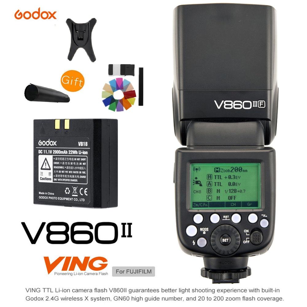 Godox V860II V860II-F GN60 TTL HSS 1/8000 S Li-Ion Fotocamera Flash Speedlite 2.4G Wireless Sistema X luce per Fujifilm Fuji