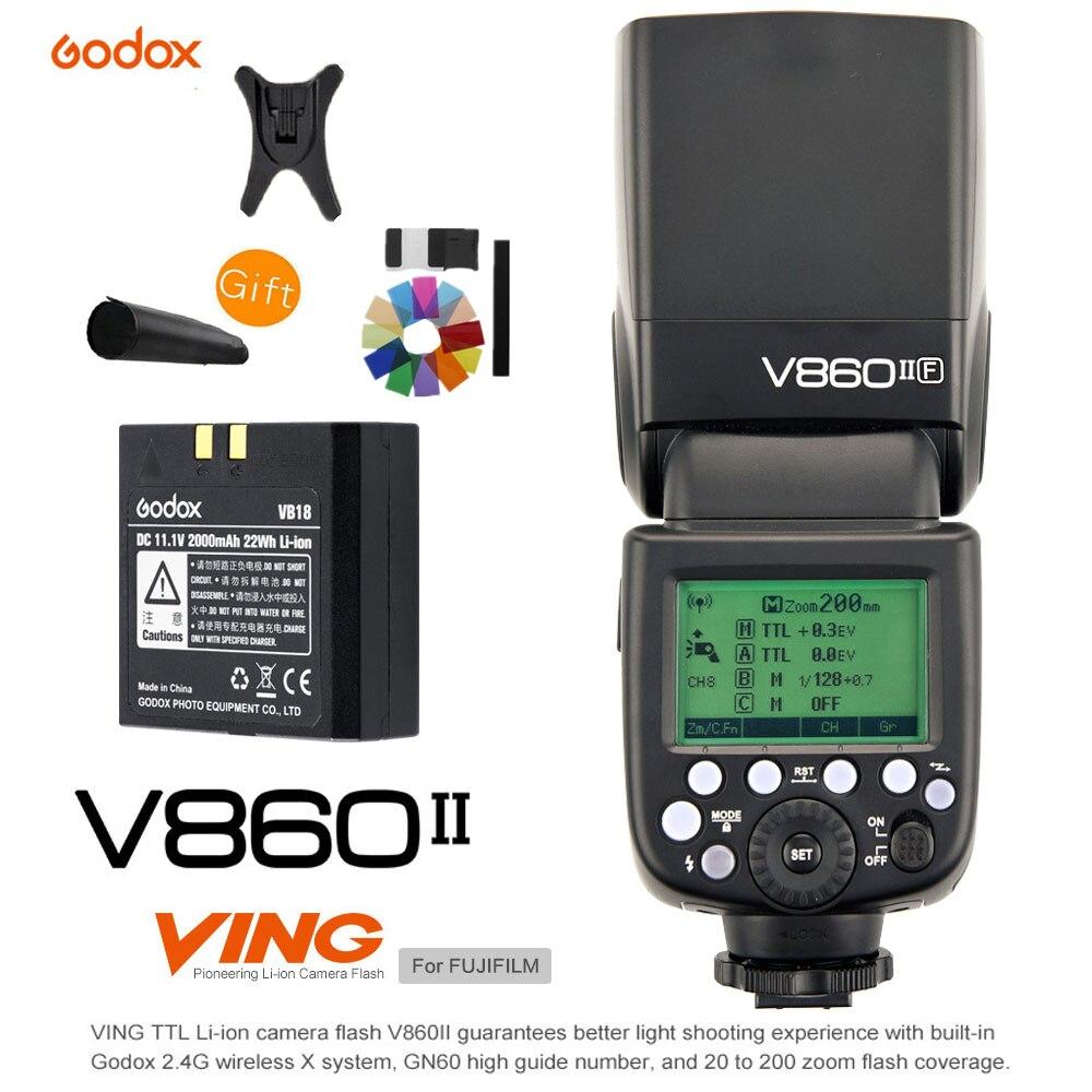 Godox V860II V860II-F GN60 TTL HSS 1/8000 S Li-ion Batterie Speedlite 2.4G Sans Fil X Système Caméra Flash lumière pour Fujifilm Fuji
